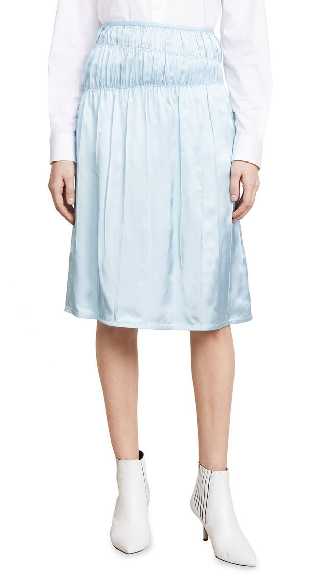 Ruched Slip Skirt