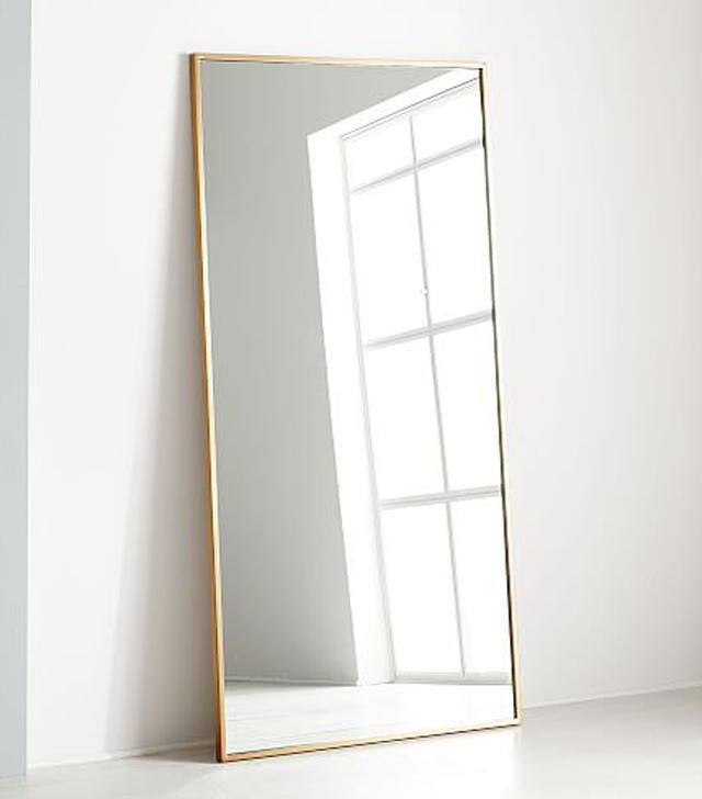 West Elm Floor Mirror in Antique Brass
