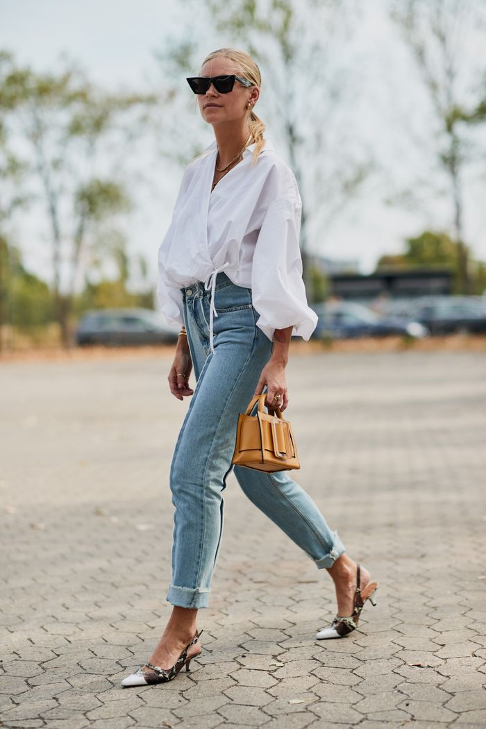 62f74edb6ef 7 Easy Ways to Dress Up Your Jeans | Who What Wear