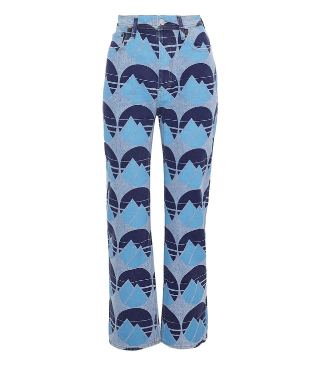 Acne Studios Painted Mid-Rise Straight-Leg Jeans