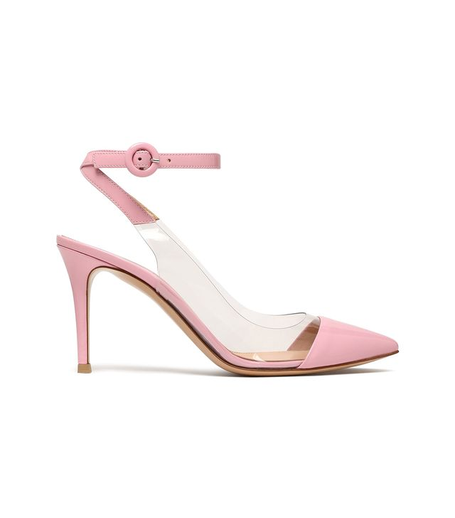 Gianvito Rossi Ansie Patent-Leather and PVC Slingback Pumps