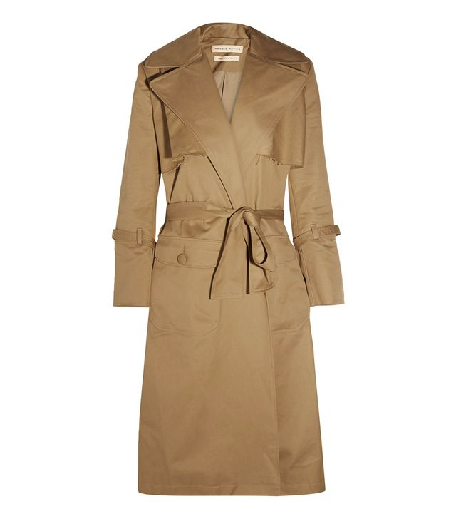 Be Mine Oversized Cotton-Twill Trench Coat