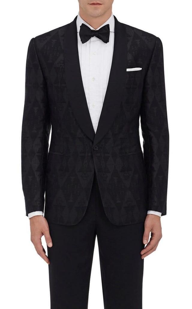 Men's Anthony Silk-Cashmere One-Button Tuxedo Jacket