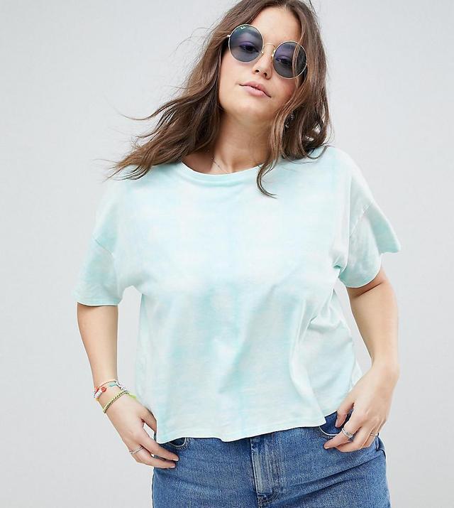 ASOS Curve T-Shirt in Tie Dye