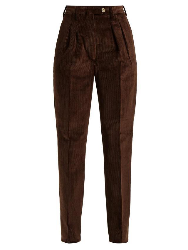 Husband Slim-Leg Corduroy Trousers