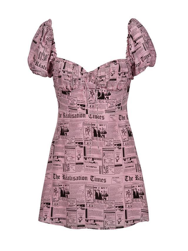 Réalisation Par Venus Newspaper Dress