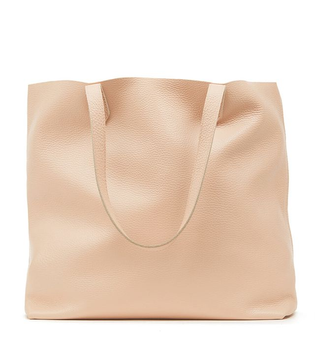 Cuyana Classic Leather Tote in Blush