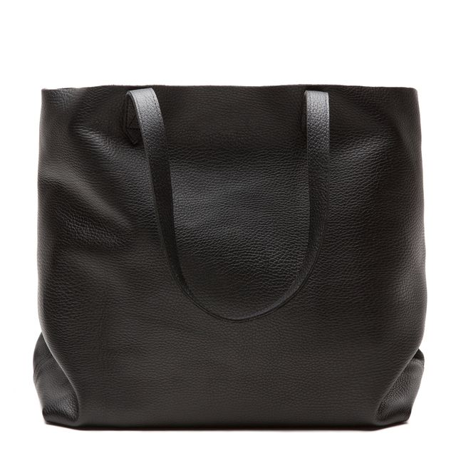 Cuyana Classic Leather Tote in Black