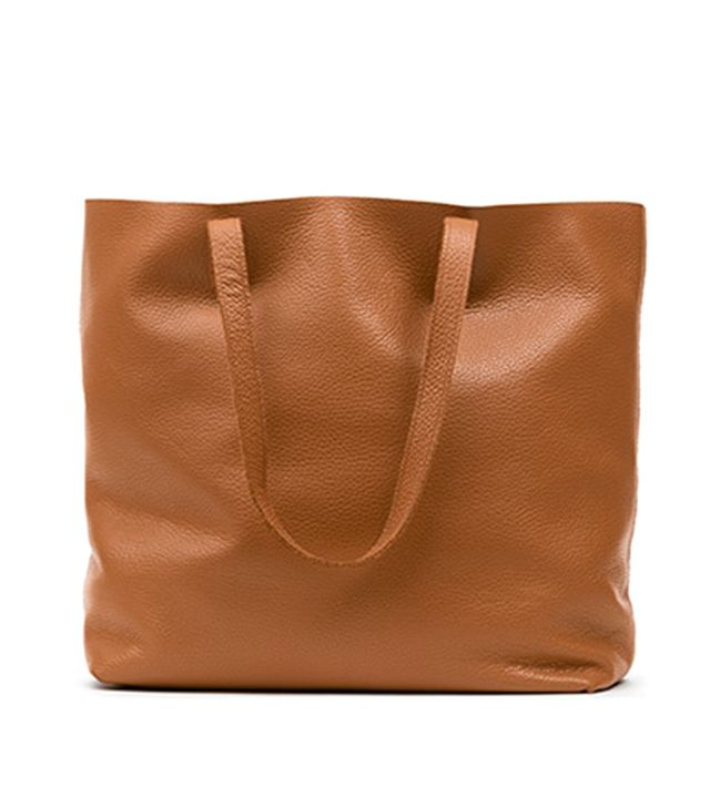 Cuyana Classic Leather Tote in Caramel