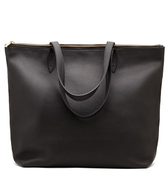 Cuyana Classic Leather Zipper Tote