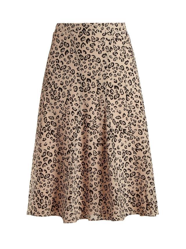 Caroline leopard-print skirt