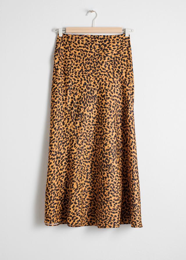 & Other Stories Leopard Print Midi Skirt