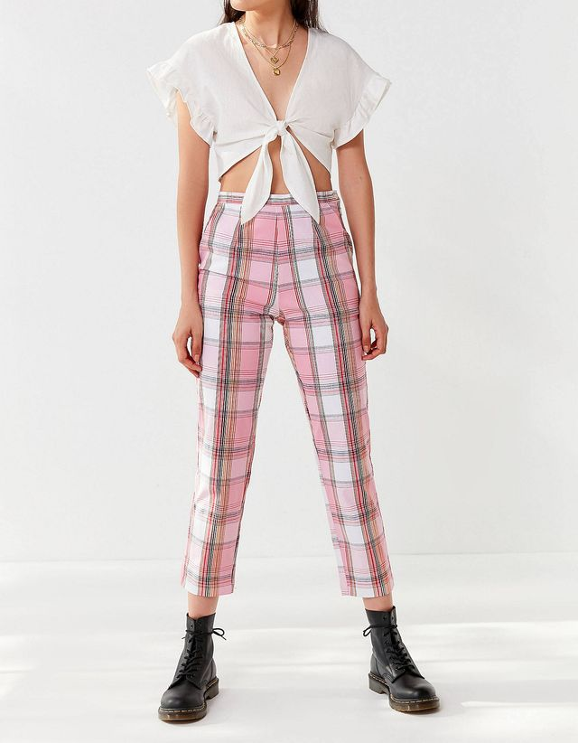 Remnants Plaid Pin-Up Pant