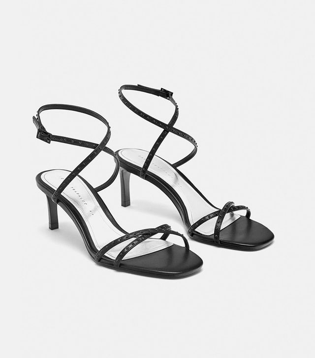 Zara Micro-Blotted Sandals