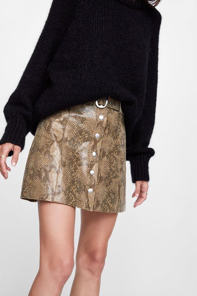 Zara Leather Mini Skirt