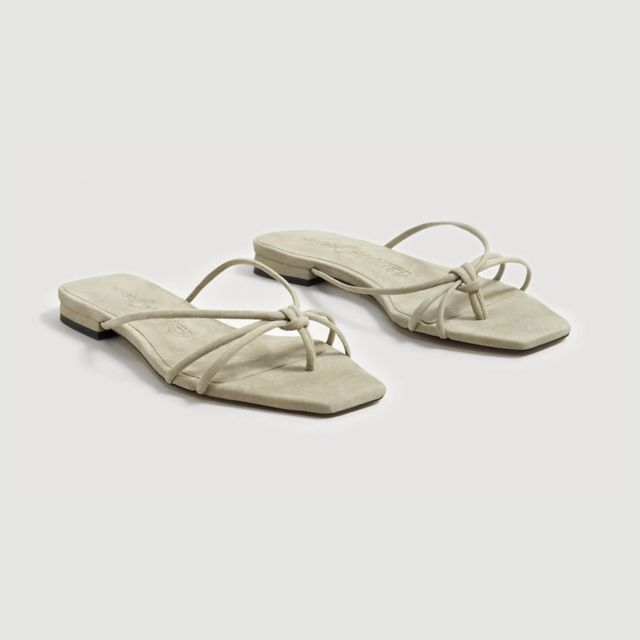 Mango Committed Leather Strap Sandals