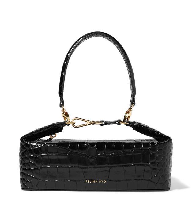 Olivia Croc-Effect Leather Tote
