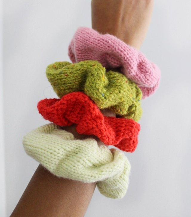Dauphinette Chubby Scrunchie Hand-Knit With Recycled Yarn
