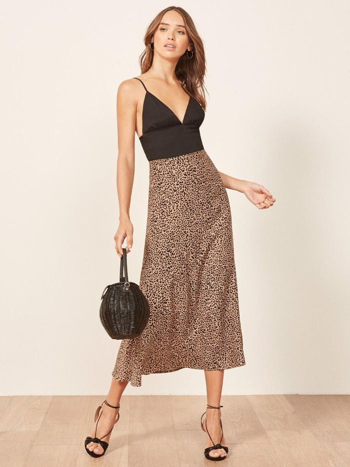 4f76a85ad30 Reformation s Leopard Skirt Sold Out Immediately