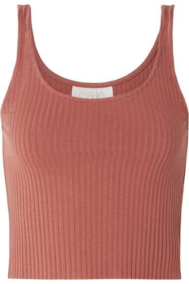 Gigi Ribbed Stretch-knit Tank