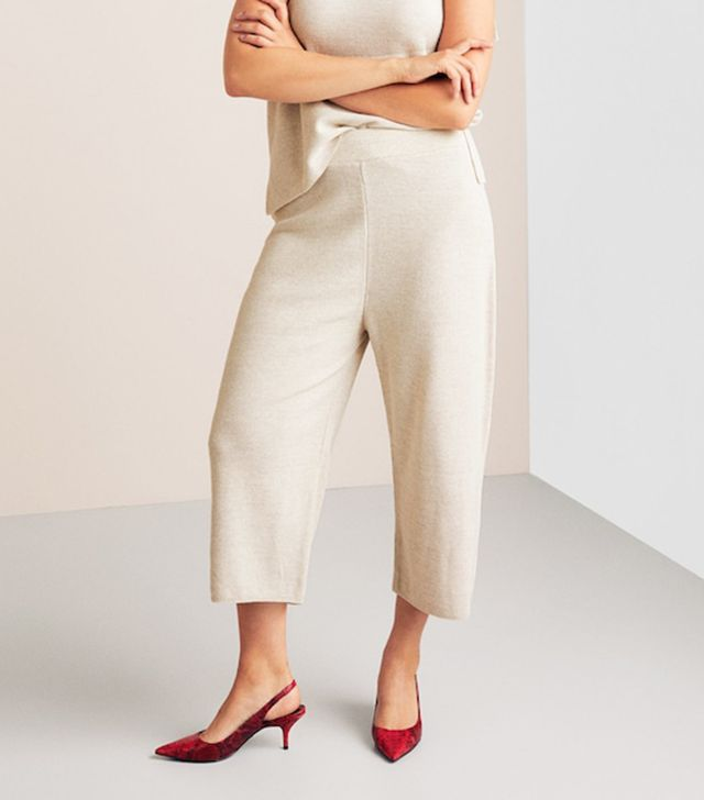Violeta by Mango Knitted Culotte Trousers