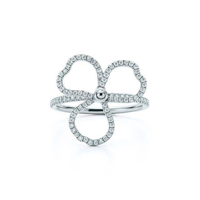 Tiffany & Co. Diamond Open Flower Ring