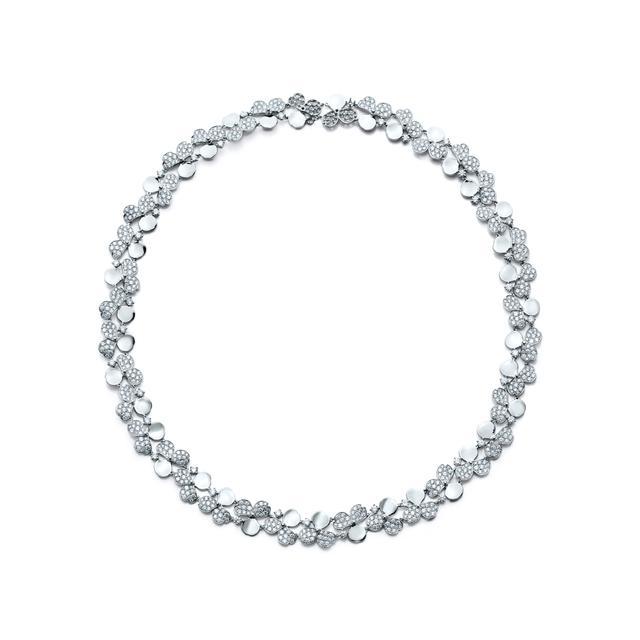 Tiffany & Co. Diamond Cluster Necklace