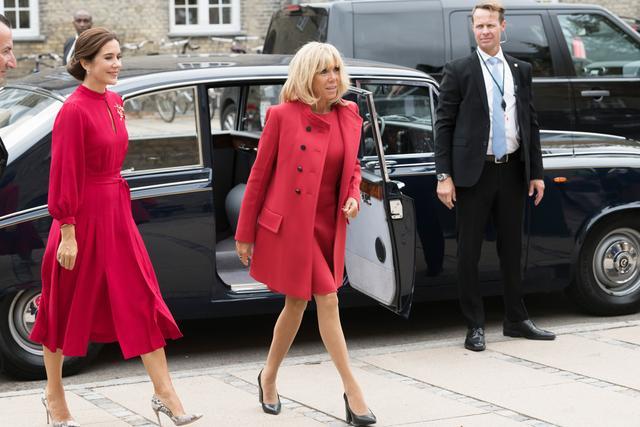 Brigitte Macron and Princess Mary of Denmark in Copenhagen