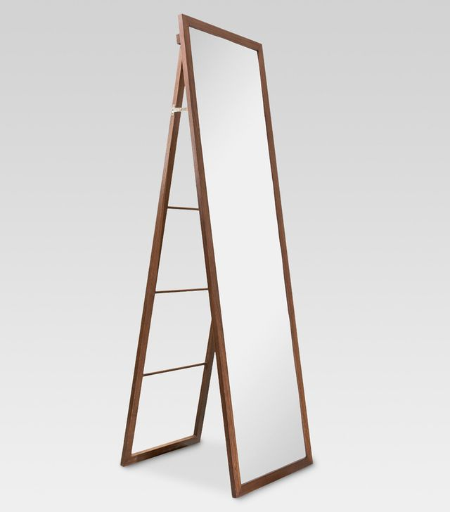 Threshold Wood Ladder Standing Floor Mirror