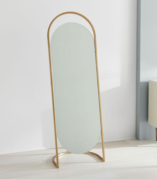 West Elm Folded Ellipse Standing Mirror