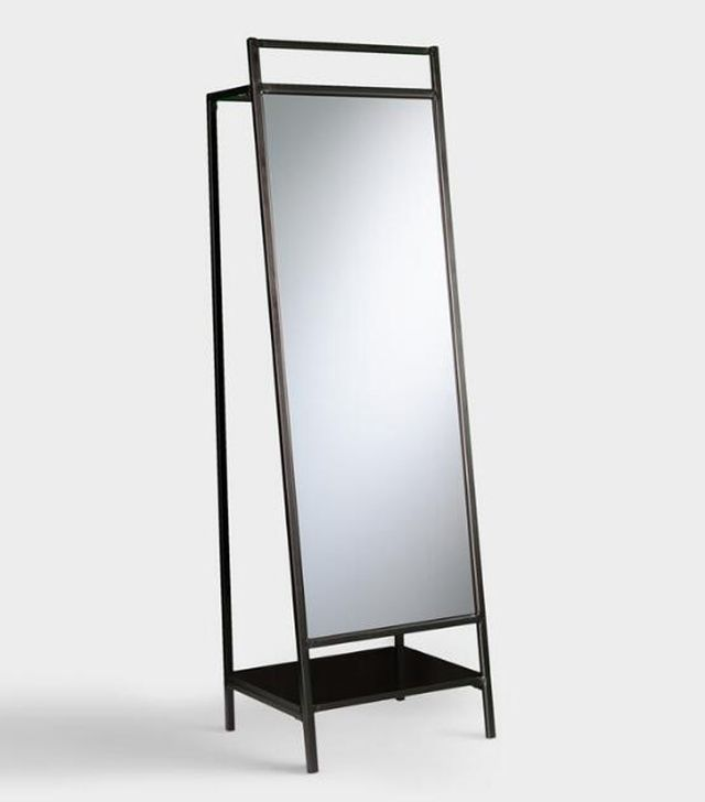Black Modern Brooklyn Mirror Organizer by World Market