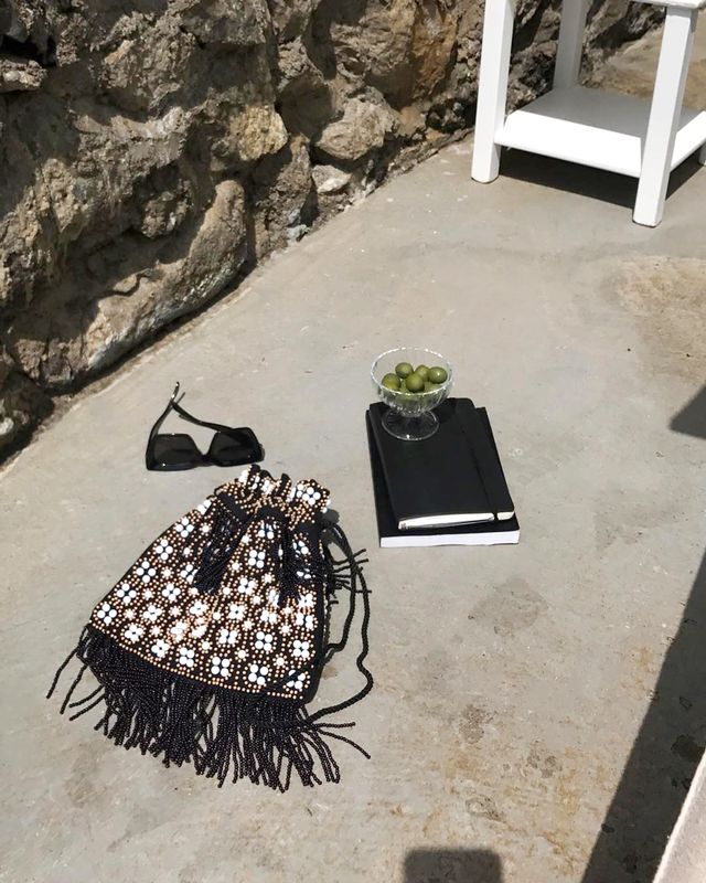 beaded pouch bags