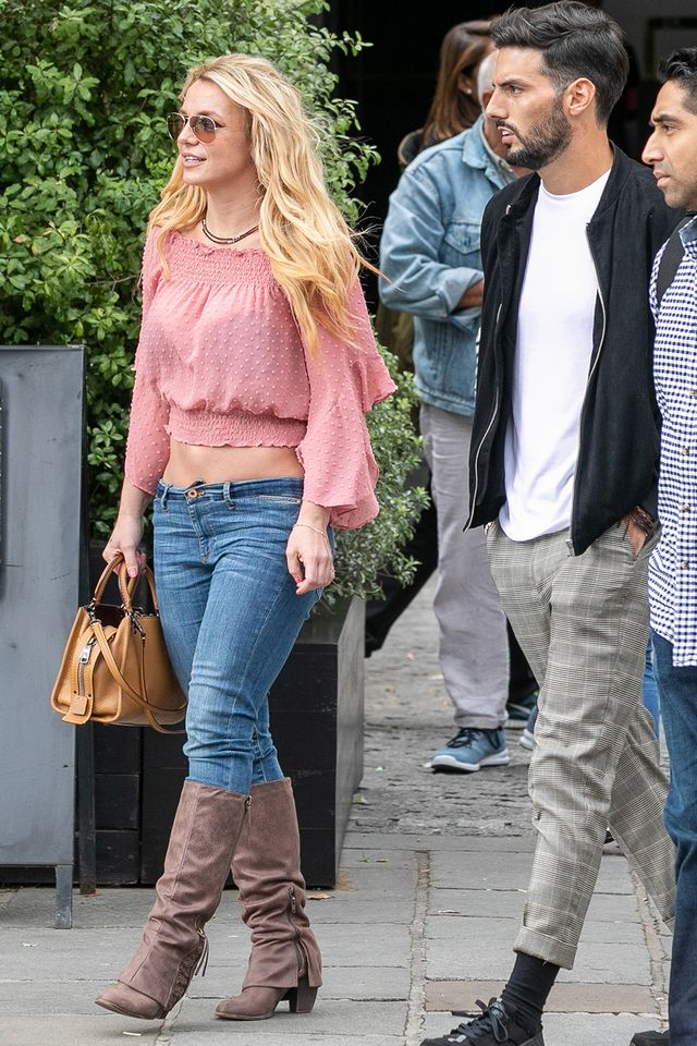 Britney Spears low-rise jeans