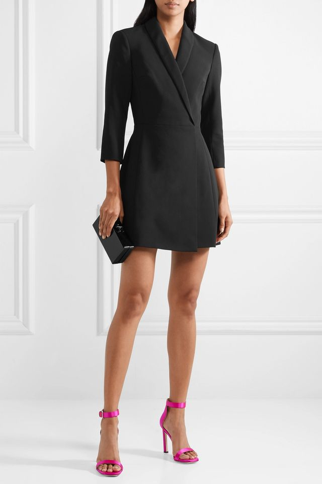 Brenda Wrap-Effect Cady Mini Dress