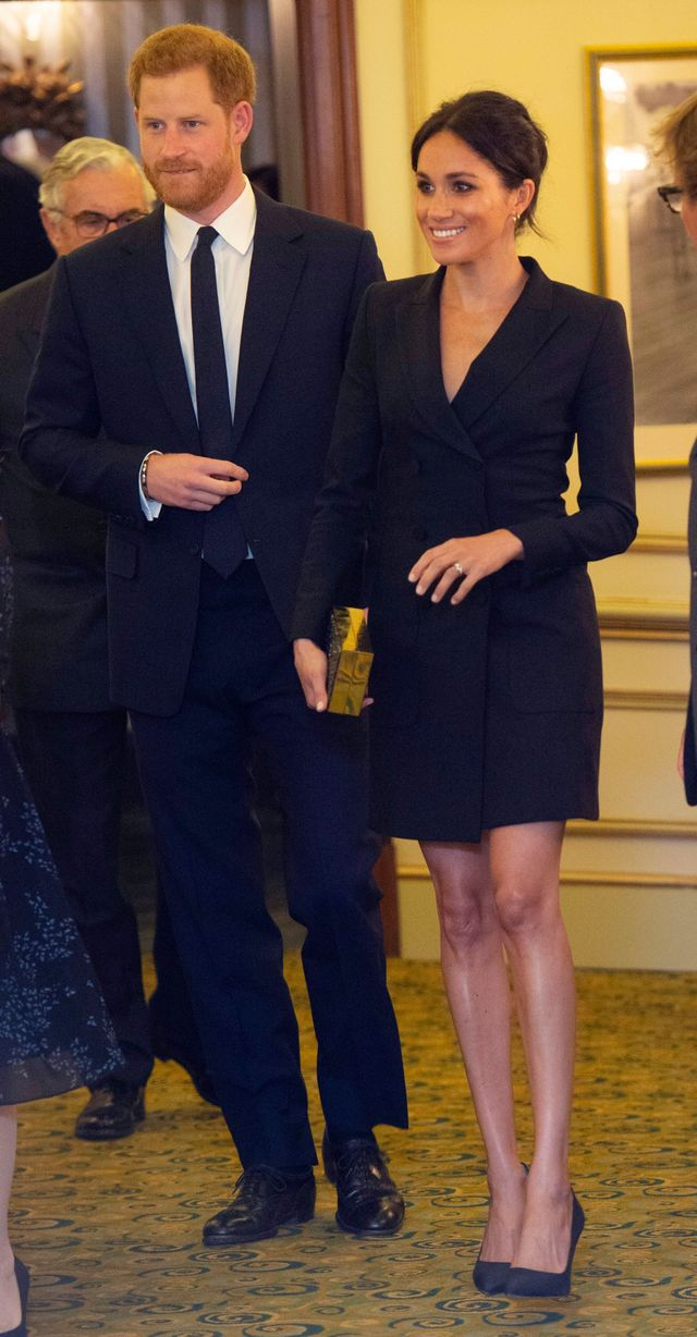 Meghan Markle in a Blazer Dress at Hamilton