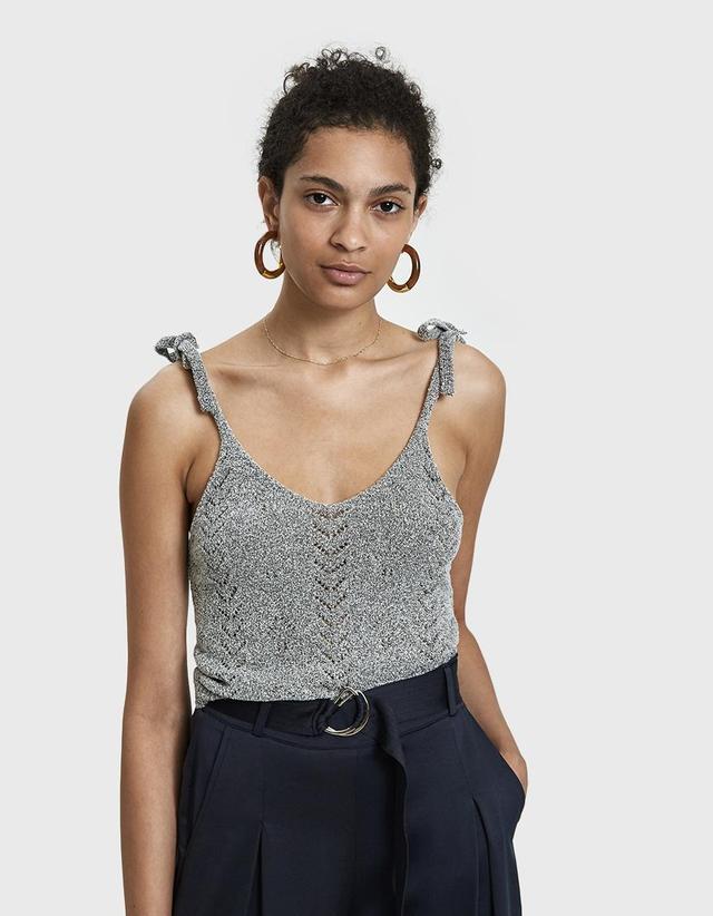 Deon Bouclé Knit Tank in Grey