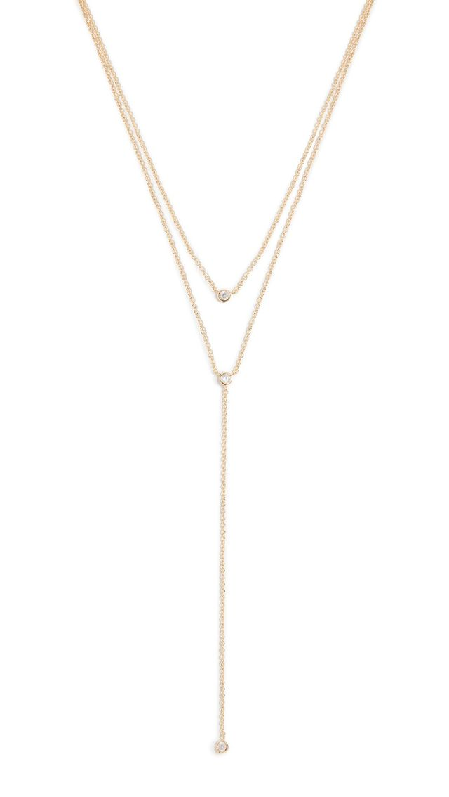 Double Layer Drop Necklace