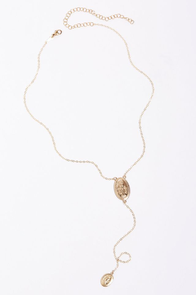 Erth Jewelry Rosary Drop Lariat Necklace