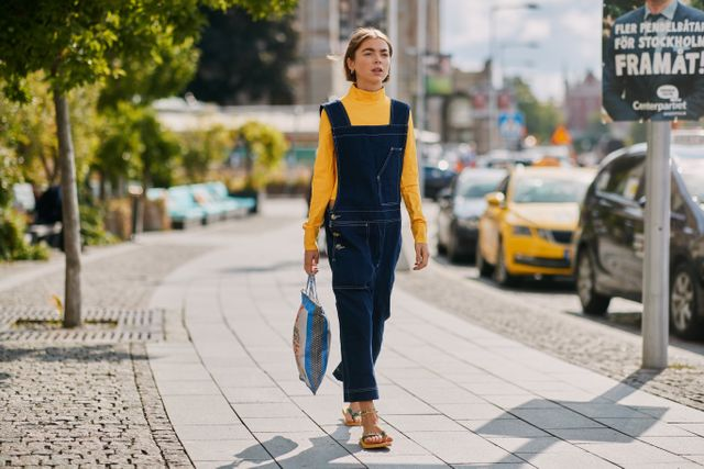 Stockholm Fashion Week Street Style Spring 2019 Overalls