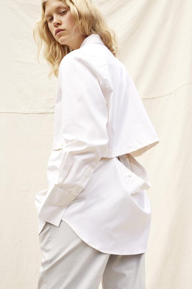 Wynn Hamyln Half Moon Cotton Shirt - Off White