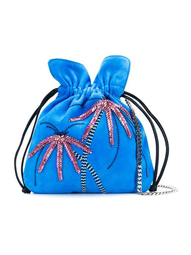 metal palm tree shoulder bag