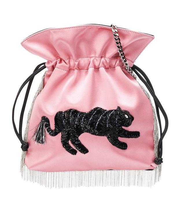 embellished fringed crossbody bag
