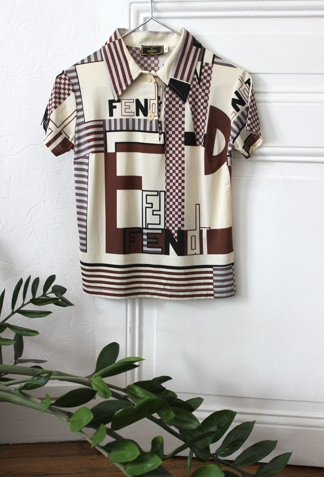 Fendi Printed Jersey Polo