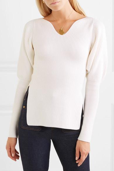 Selena Ribbed Merino Wool Sweater