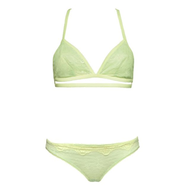 Best Silk Lingerie  Iris London Betty Bralet and Thong Set in Peppermint 544825dc0