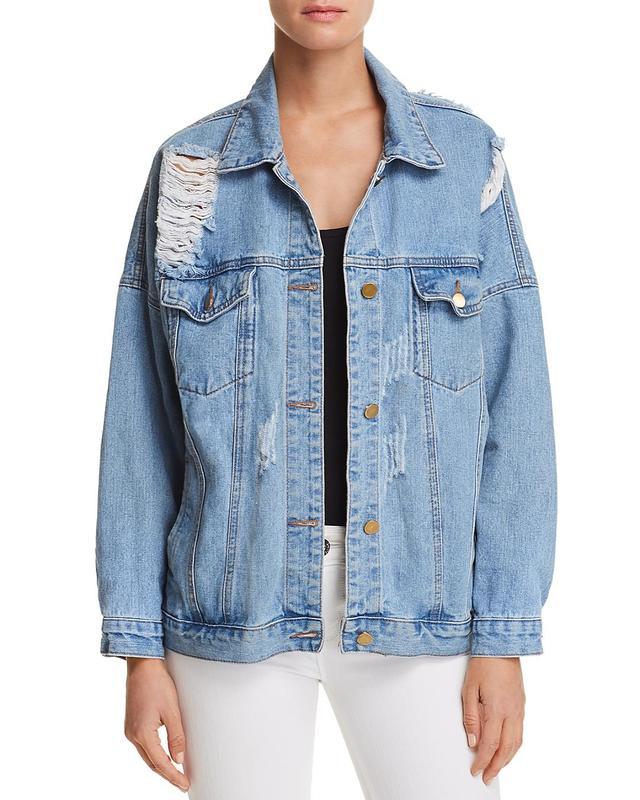 Sage the Label Zepplin Destroyed Denim Jacket