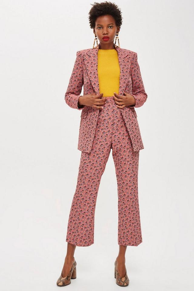 Topshop Floral Jacquard Suit