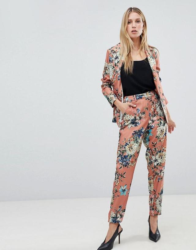 floral suit jacket