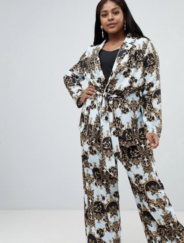ASOS Curve Scarf Print Suit