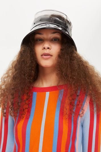 Monochrome PVC Bucket Hat